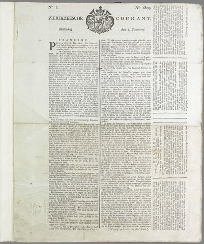 Zierikzeesche Courant 1809
