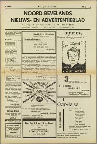 Noord-Bevelands Nieuws- en advertentieblad 1955-02-19