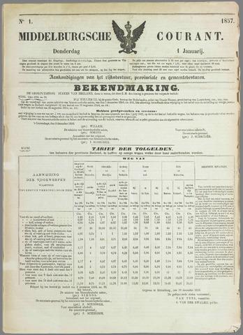 Middelburgsche Courant 1857