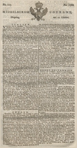 Middelburgsche Courant 1768-10-18
