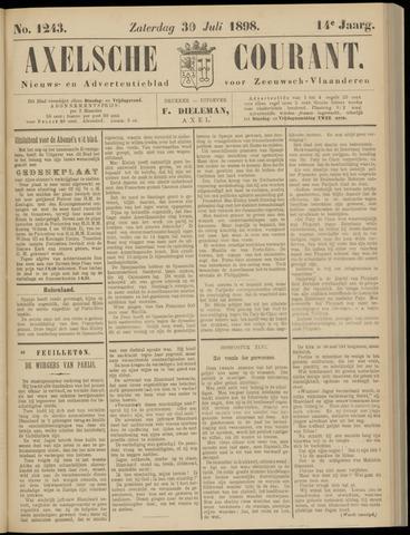Axelsche Courant 1898-07-30