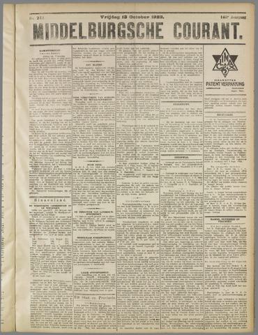 Middelburgsche Courant 1922-10-13