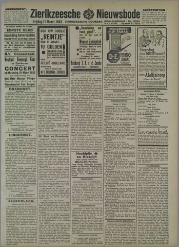 Zierikzeesche Nieuwsbode 1932-03-11