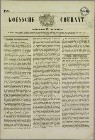 Goessche Courant 1851-08-28
