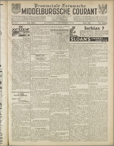 Middelburgsche Courant 1930-11-01