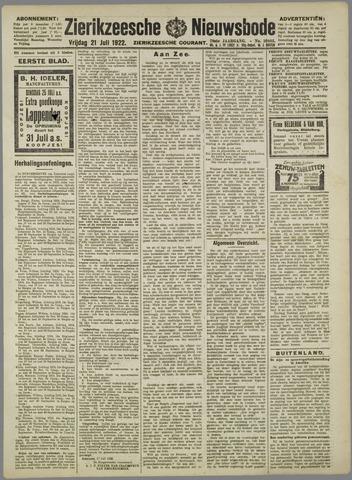Zierikzeesche Nieuwsbode 1922-07-21