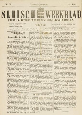 Sluisch Weekblad. Nieuws- en advertentieblad voor Westelijk Zeeuwsch-Vlaanderen 1875-07-09