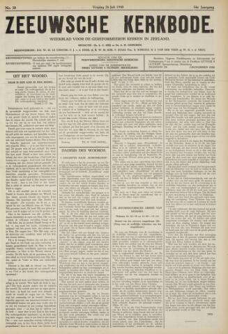 Zeeuwsche kerkbode, weekblad gewijd aan de belangen der gereformeerde kerken/ Zeeuwsch kerkblad 1940-07-26