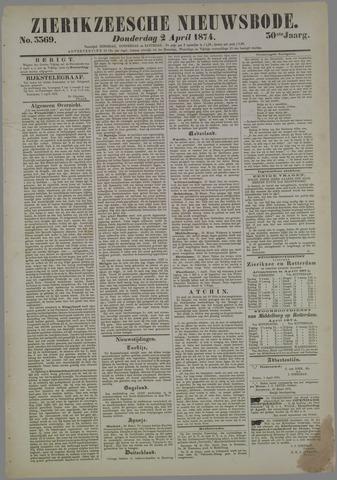 Zierikzeesche Nieuwsbode 1874-04-02