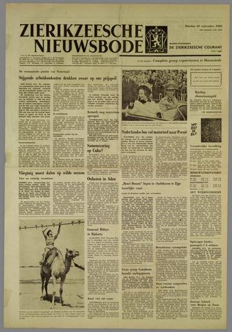 Zierikzeesche Nieuwsbode 1962-09-25