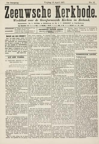 Zeeuwsche kerkbode, weekblad gewijd aan de belangen der gereformeerde kerken/ Zeeuwsch kerkblad 1917-04-13