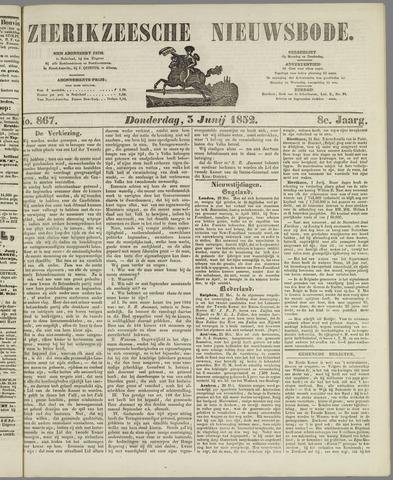 Zierikzeesche Nieuwsbode 1852-06-03