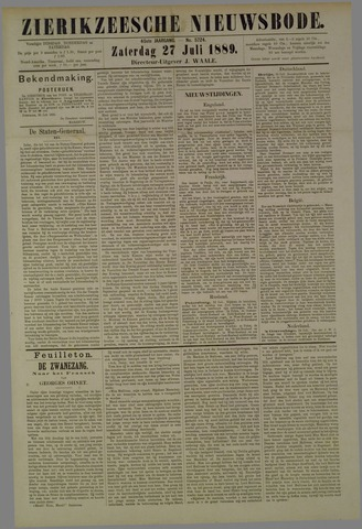 Zierikzeesche Nieuwsbode 1889-07-27