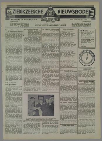 Zierikzeesche Nieuwsbode 1936-11-25