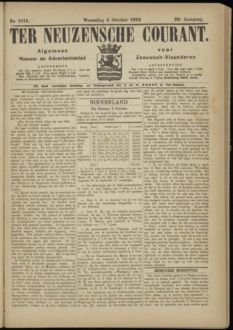 Ter Neuzensche Courant. Algemeen Nieuws- en Advertentieblad voor Zeeuwsch-Vlaanderen / Neuzensche Courant ... (idem) / (Algemeen) nieuws en advertentieblad voor Zeeuwsch-Vlaanderen 1882-10-04