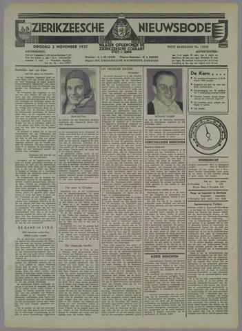 Zierikzeesche Nieuwsbode 1937-11-02