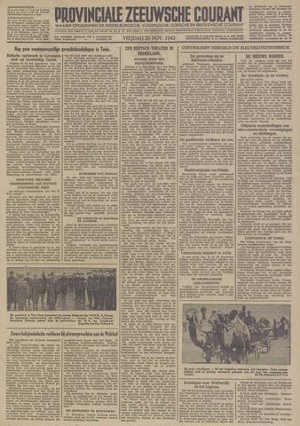 Provinciale Zeeuwse Courant 1942-11-20