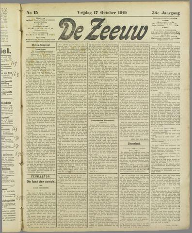 De Zeeuw. Christelijk-historisch nieuwsblad voor Zeeland 1919-10-17