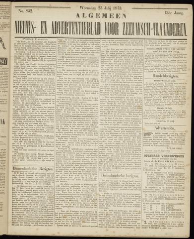 Ter Neuzensche Courant. Algemeen Nieuws- en Advertentieblad voor Zeeuwsch-Vlaanderen / Neuzensche Courant ... (idem) / (Algemeen) nieuws en advertentieblad voor Zeeuwsch-Vlaanderen 1873-07-23