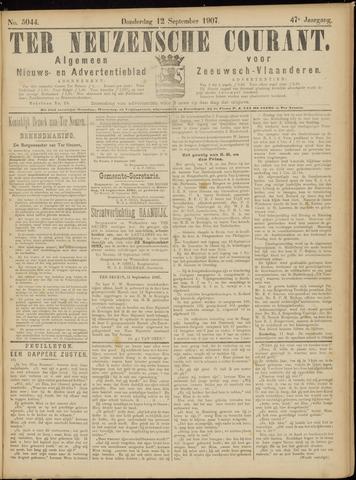 Ter Neuzensche Courant. Algemeen Nieuws- en Advertentieblad voor Zeeuwsch-Vlaanderen / Neuzensche Courant ... (idem) / (Algemeen) nieuws en advertentieblad voor Zeeuwsch-Vlaanderen 1907-09-12