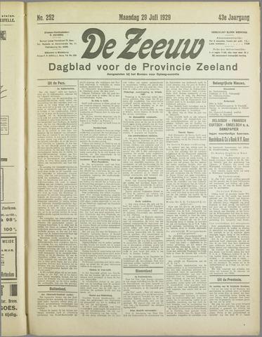 De Zeeuw. Christelijk-historisch nieuwsblad voor Zeeland 1929-07-29