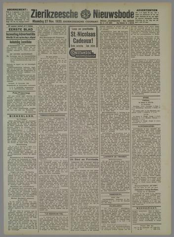 Zierikzeesche Nieuwsbode 1933-11-27
