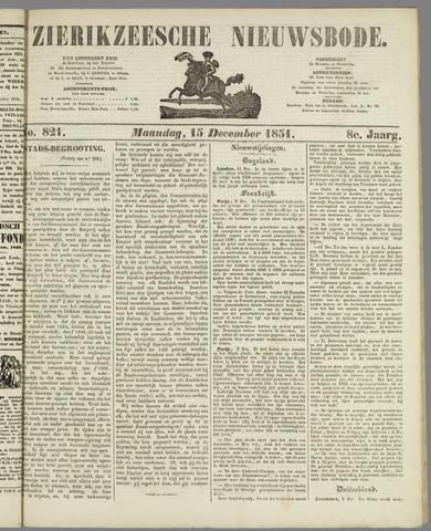 Zierikzeesche Nieuwsbode 1851-12-15