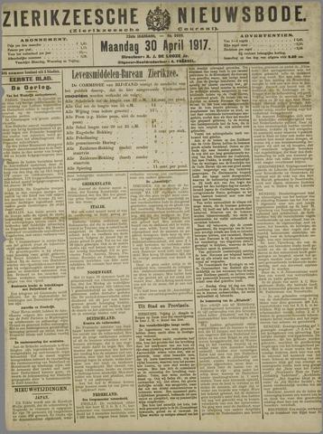 Zierikzeesche Nieuwsbode 1917-04-30