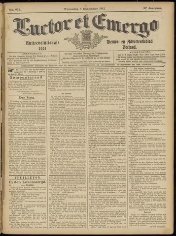 Luctor et Emergo. Antirevolutionair nieuws- en advertentieblad voor Zeeland / Zeeuwsch-Vlaanderen. Orgaan ter verspreiding van de christelijke beginselen in Zeeuwsch-Vlaanderen 1912-12-04