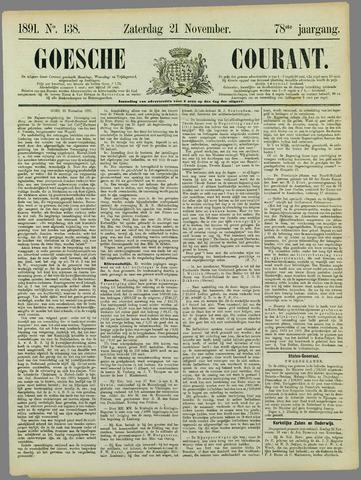 Goessche Courant 1891-11-21