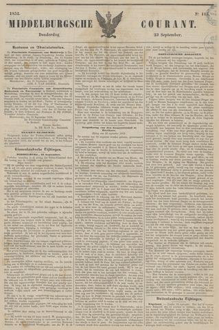 Middelburgsche Courant 1852-09-23
