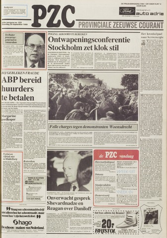 Provinciale Zeeuwse Courant 1986-09-20