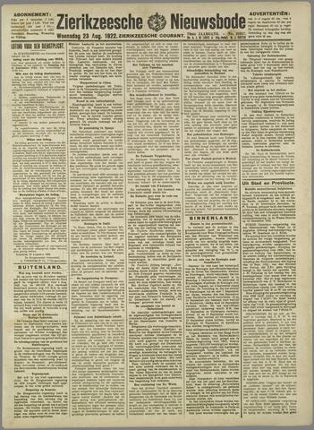 Zierikzeesche Nieuwsbode 1922-08-23