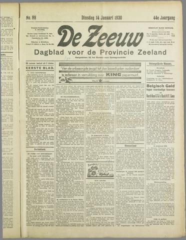 De Zeeuw. Christelijk-historisch nieuwsblad voor Zeeland 1930-01-14