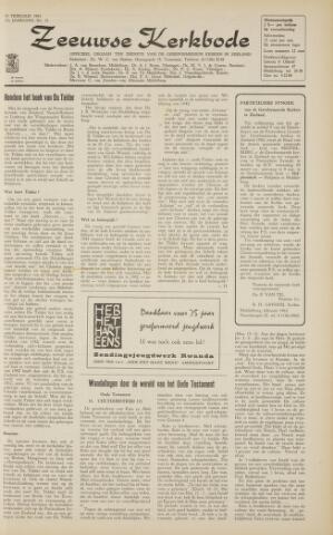Zeeuwsche kerkbode, weekblad gewijd aan de belangen der gereformeerde kerken/ Zeeuwsch kerkblad 1963-02-15