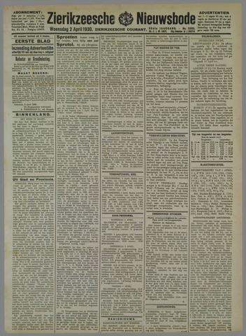 Zierikzeesche Nieuwsbode 1930-04-02