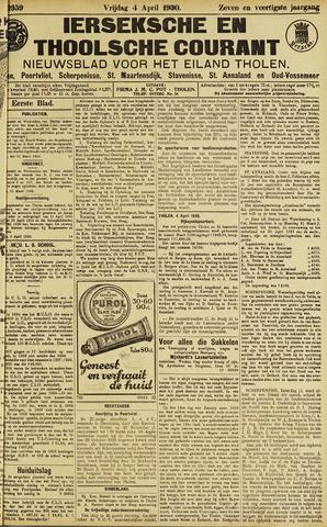 Ierseksche en Thoolsche Courant 1930-04-04
