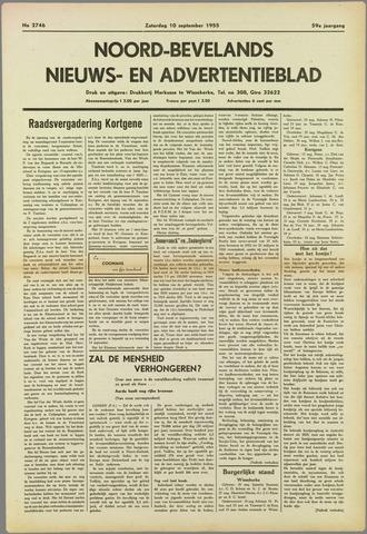 Noord-Bevelands Nieuws- en advertentieblad 1955-09-10