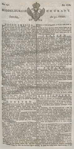 Middelburgsche Courant 1778-10-31
