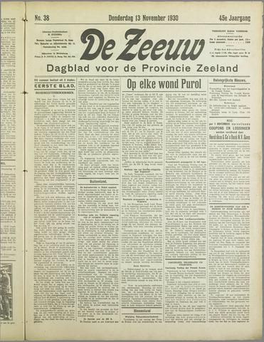 De Zeeuw. Christelijk-historisch nieuwsblad voor Zeeland 1930-11-13