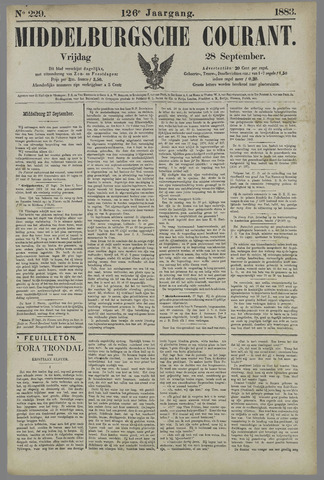 Middelburgsche Courant 1883-09-28