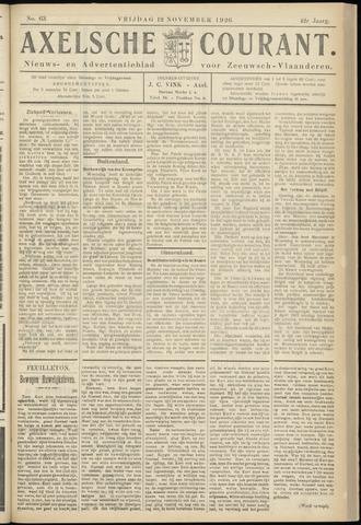 Axelsche Courant 1926-11-12