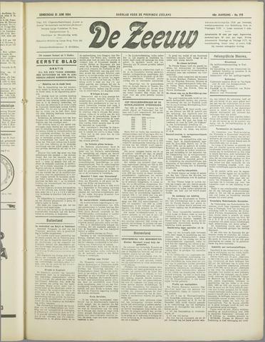 De Zeeuw. Christelijk-historisch nieuwsblad voor Zeeland 1934-06-21