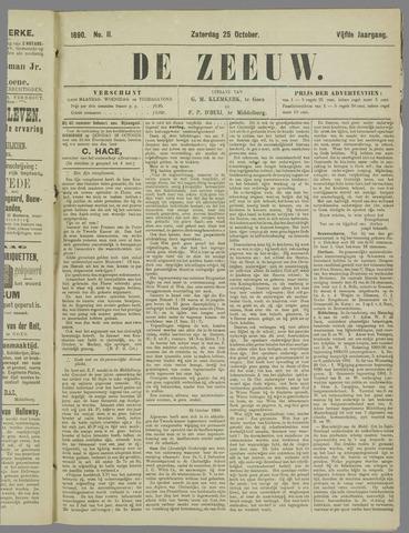 De Zeeuw. Christelijk-historisch nieuwsblad voor Zeeland 1890-10-25