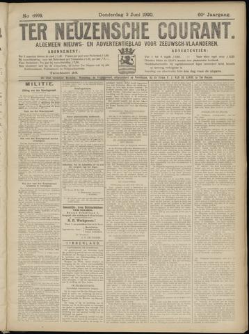Ter Neuzensche Courant. Algemeen Nieuws- en Advertentieblad voor Zeeuwsch-Vlaanderen / Neuzensche Courant ... (idem) / (Algemeen) nieuws en advertentieblad voor Zeeuwsch-Vlaanderen 1920-06-03