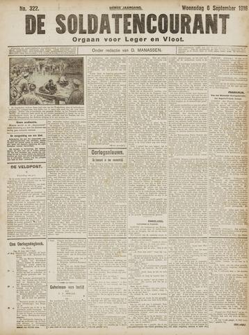 De Soldatencourant. Orgaan voor Leger en Vloot 1916-09-06