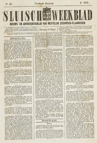 Sluisch Weekblad. Nieuws- en advertentieblad voor Westelijk Zeeuwsch-Vlaanderen 1873-03-11