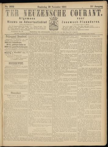 Ter Neuzensche Courant. Algemeen Nieuws- en Advertentieblad voor Zeeuwsch-Vlaanderen / Neuzensche Courant ... (idem) / (Algemeen) nieuws en advertentieblad voor Zeeuwsch-Vlaanderen 1911-11-30