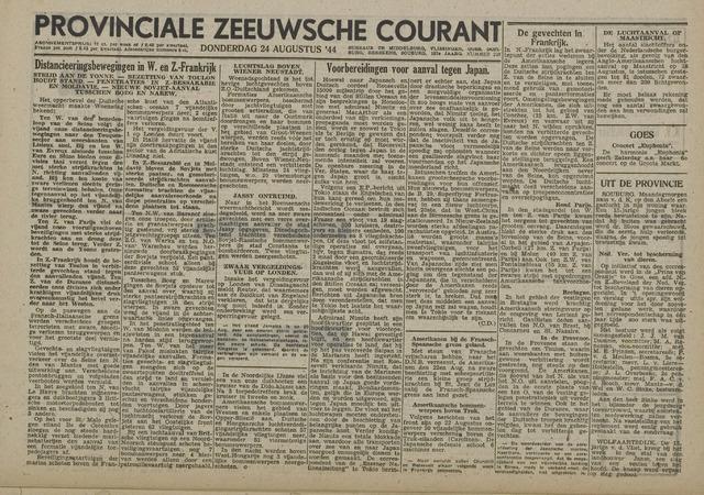 Provinciale Zeeuwse Courant 1944-08-24
