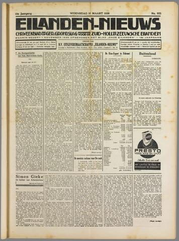 Eilanden-nieuws. Christelijk streekblad op gereformeerde grondslag 1938-03-16